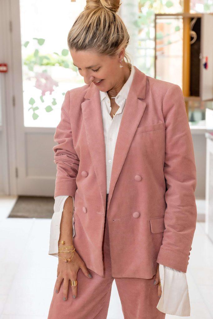 Condé Nast Traveller Editor, Melinda Stevens, wearing Robinson Pelham fine jewellery